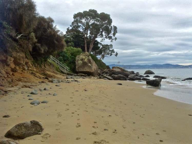 Looking north up Grange Beach