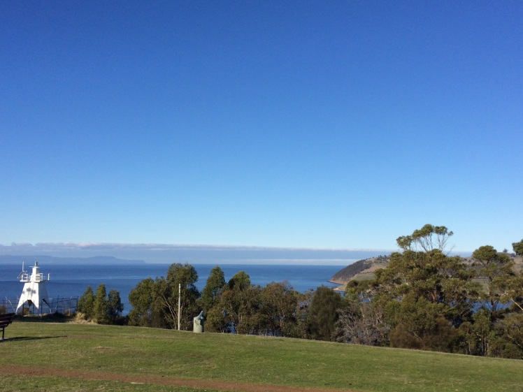 Light and cannon and Bruny from Piersons