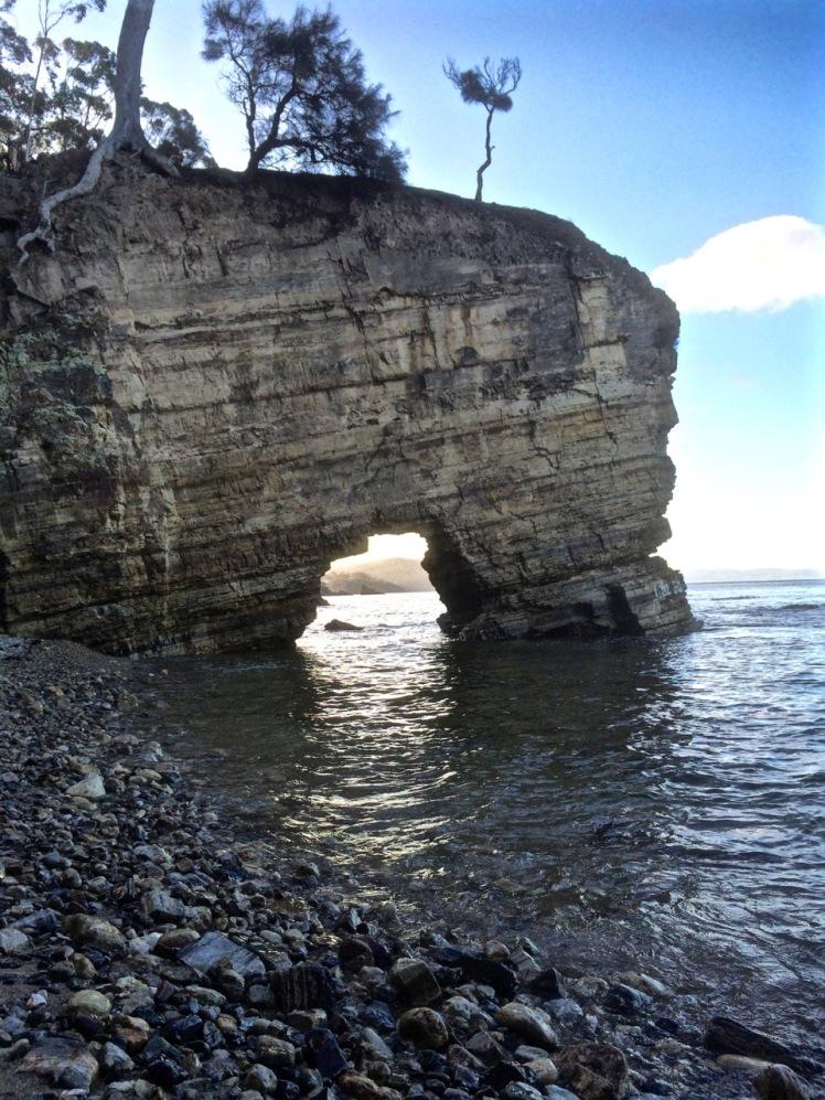 Sea Arch at Fossil Cove
