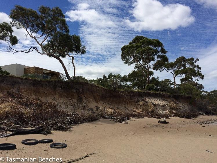 Lewisham Beach coastal erosion