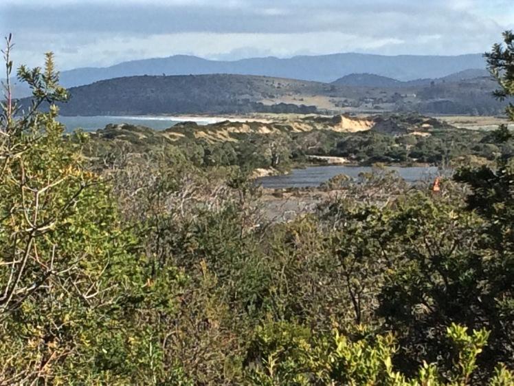 Dune trapped lake or mining pit