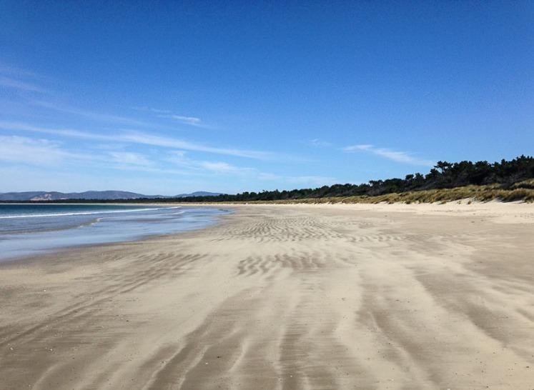 Seven Mile beach from the Sandy Point or eastern end
