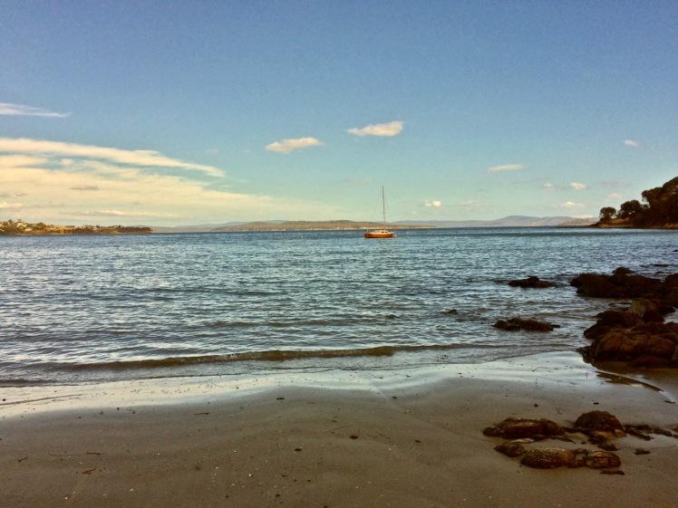 Boat moored at Primrose Sands.jpg